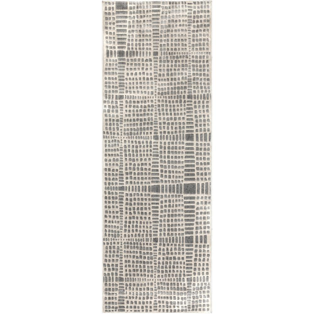 Artistic Weavers Astvin Taupe 2 ft. 7 in. x 7 ft. 3 in. Striped Runner Rug