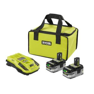 RYOBI 18-Volt ONE+ Lithium-Ion Kit w/Batteries, Charger & Bag