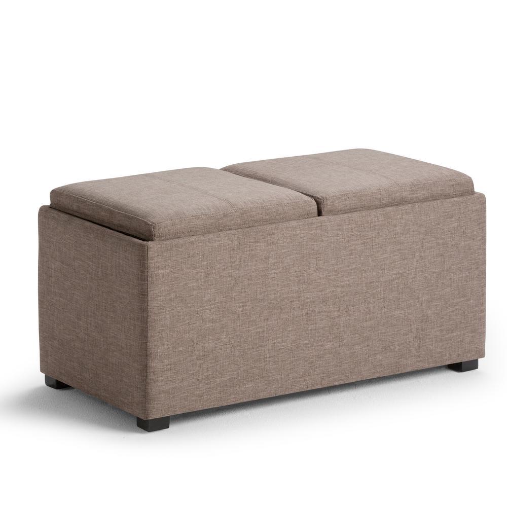 Avalon Fawn Brown 5-Piece Storage Ottoman Bench
