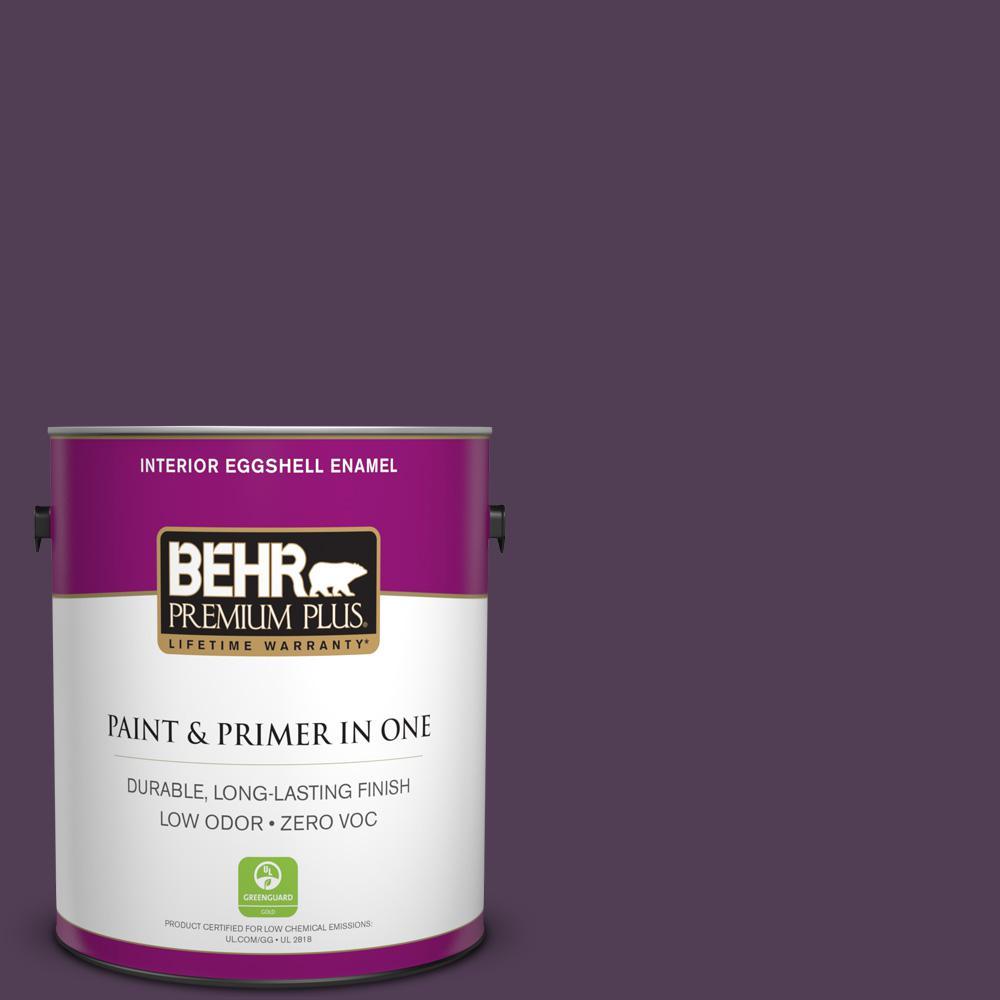 BEHR Premium Plus 1-gal. #S-H-690 Interlude Zero VOC Eggshell Enamel Interior Paint