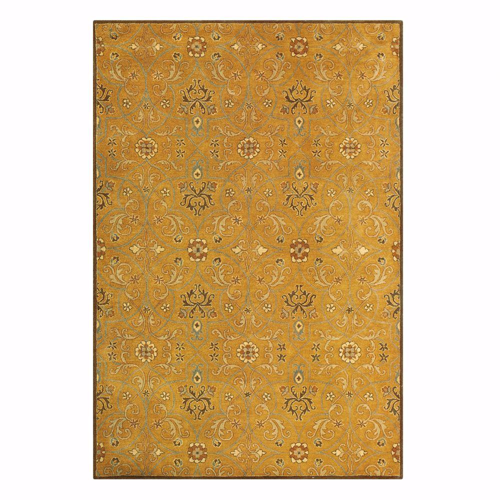 Home Decorators Collection Grimsby Amber/Gold 9 ft. 6 in. x 13 ft. 9 in. Area Rug