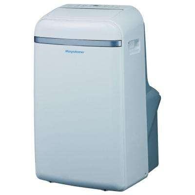 12,000 BTU 115-Volt Portable Air Conditioner with Follow Me LCD Remote Control