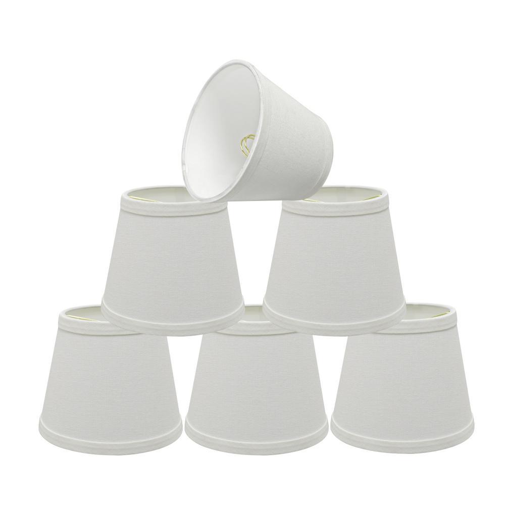 6 in. x 5 in. White Hardback Empire Lamp Shade (6-Pack)