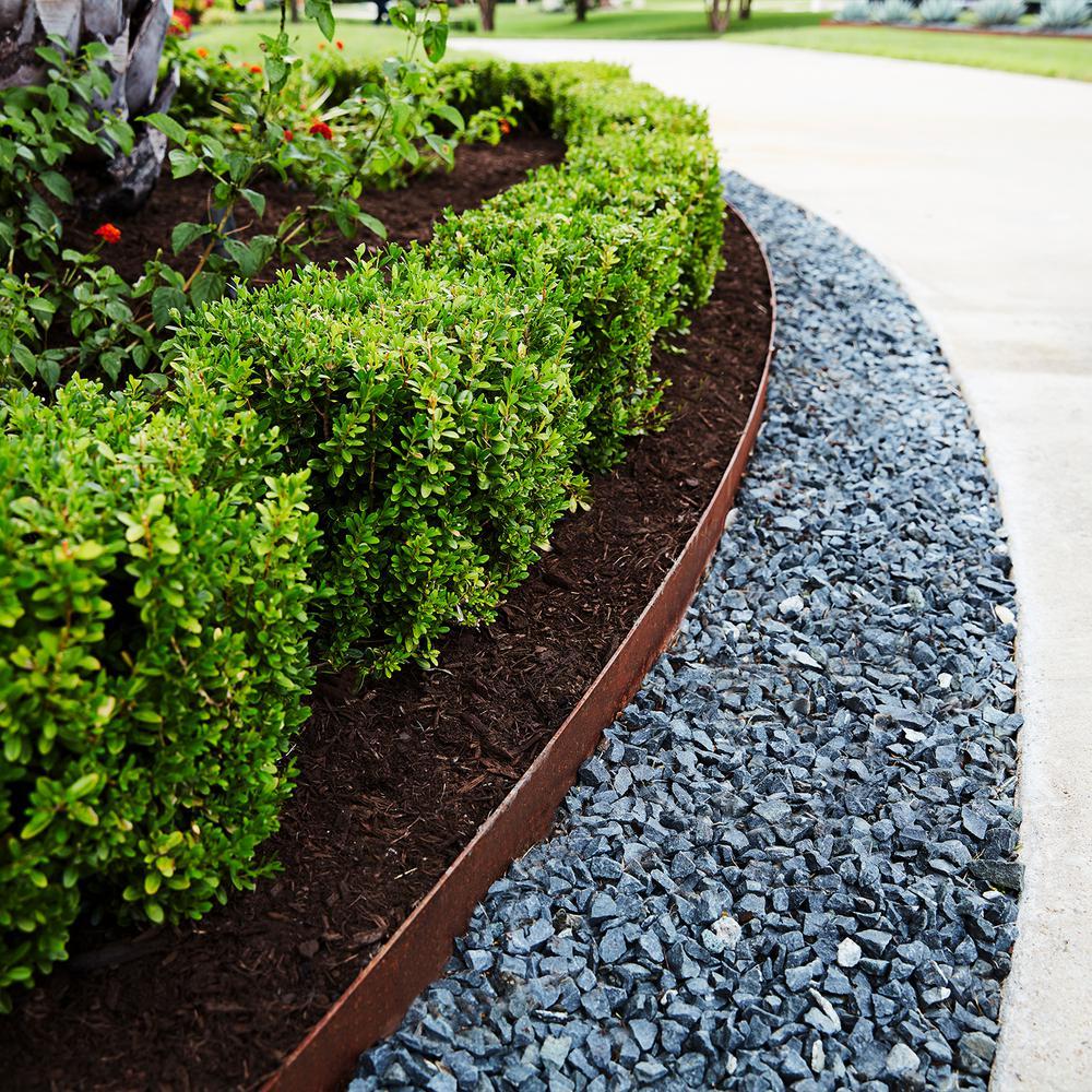 Col Met 8 Ft X 14 Gauge X 4 In Green Steel Landscape Edging 814 The Home Depot
