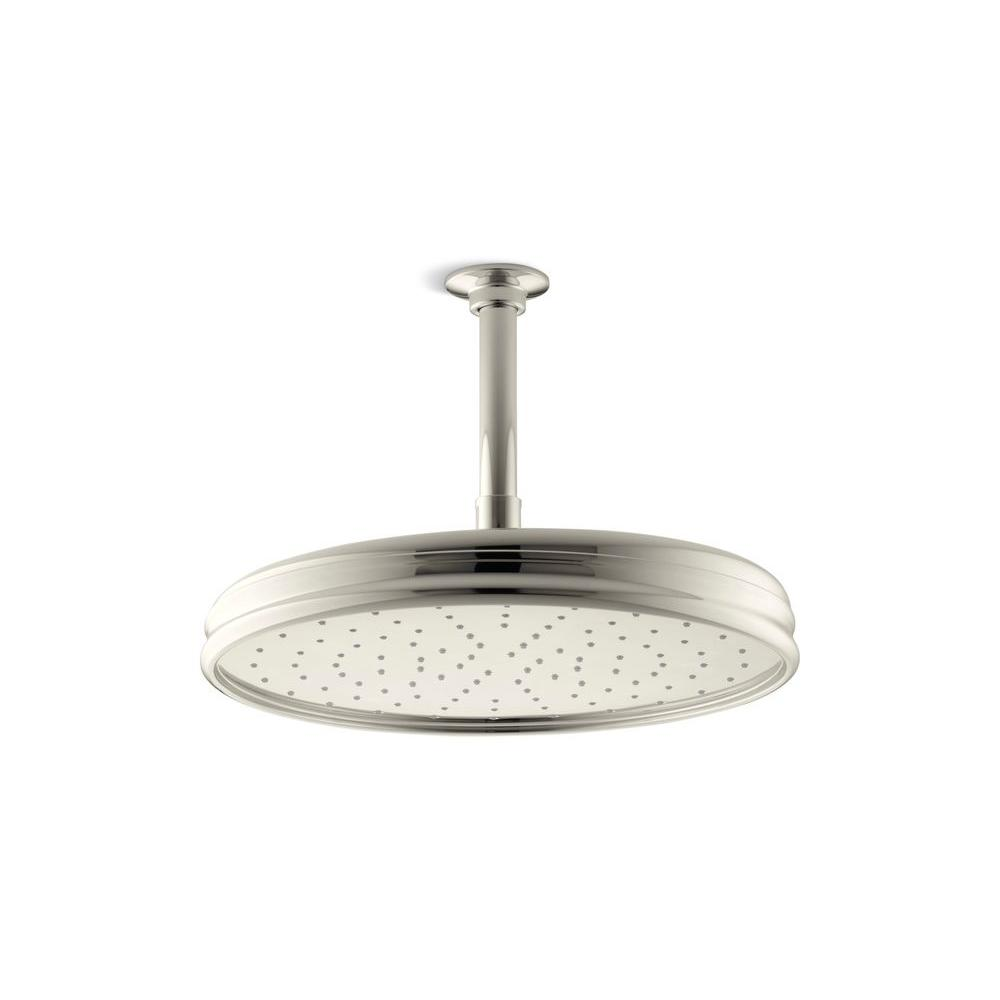 1-spray Single Function 12 in. Traditional Round Rain Showerhead in Vibrant