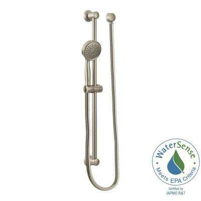 1-Spray Eco-Performance Handheld Handshower with Slidebar in Brushed Nickel