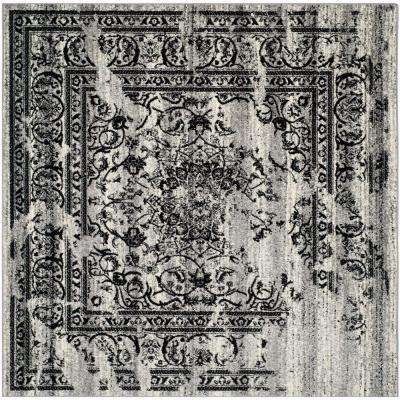 Adirondack Silver/Black 10 ft. x 10 ft. Square Area Rug