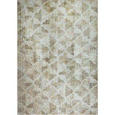 Nagala Taupe 5 ft. 3 in. x 7 ft. 2 in. Indoor Area Rug