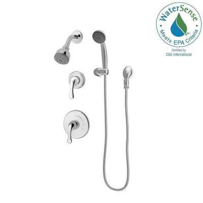 Unity 1-Spray Hand Shower and Shower Head Combo Kit in Chrome (Valve Included)