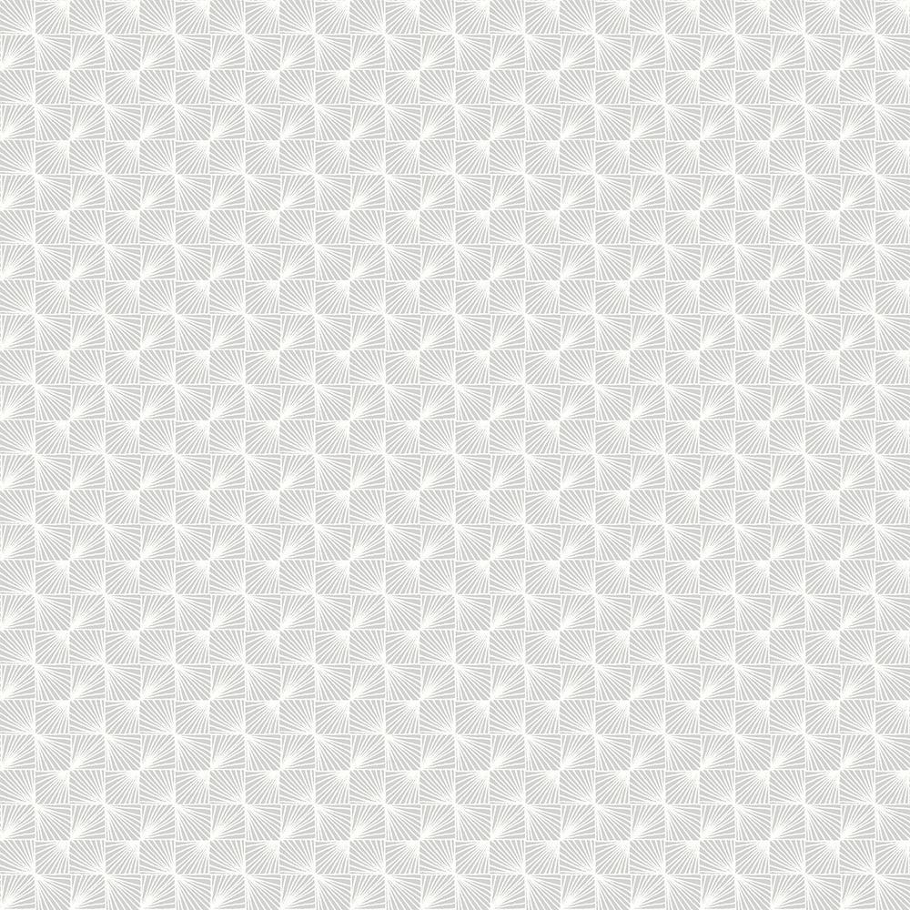 56.4 sq. ft. Stockholm Silver Geometric Wallpaper