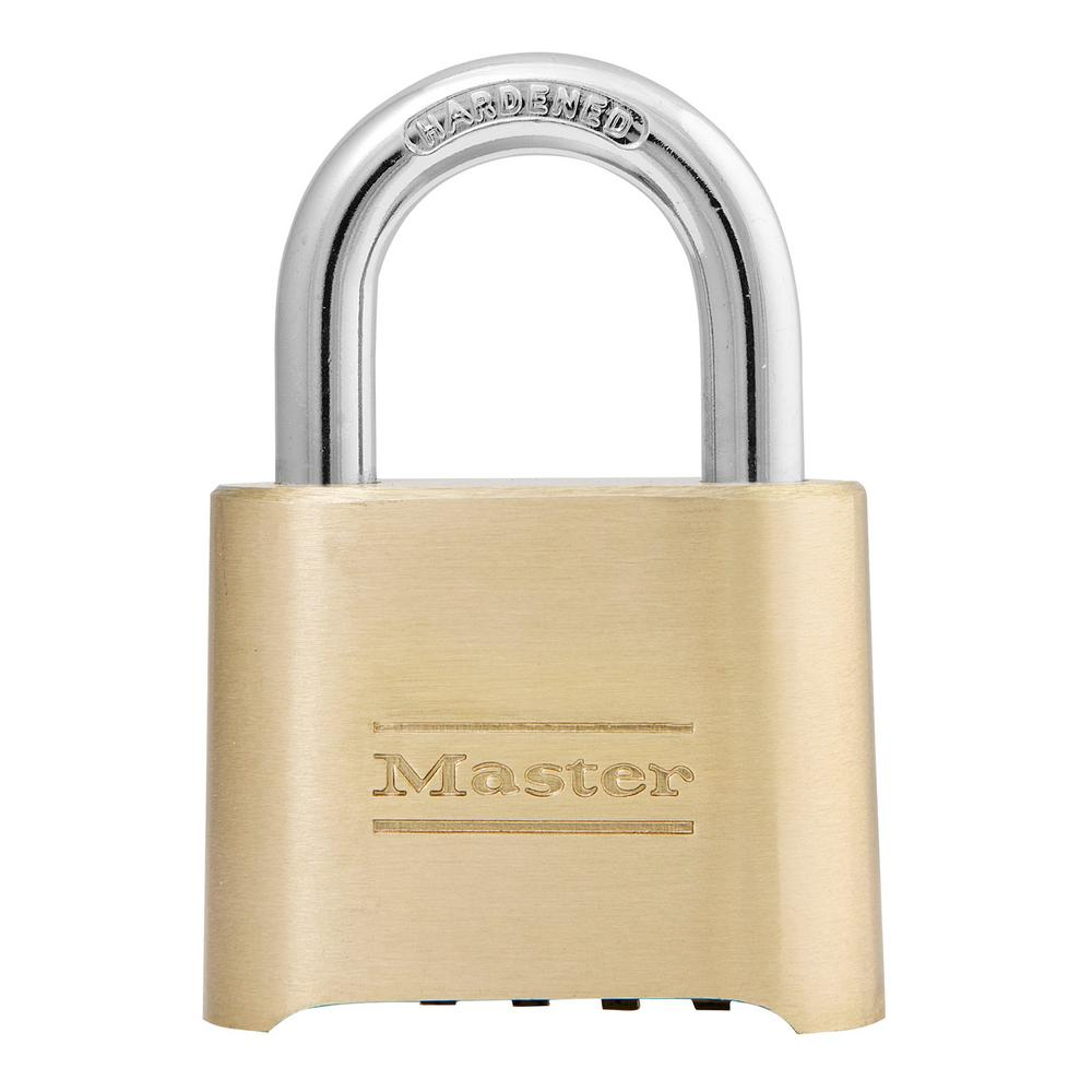 Master Lock Padlock Key Lock Brass Padlock with Hasp Shed Lock Best Used as a Gate Lock Cabinet Lock and More
