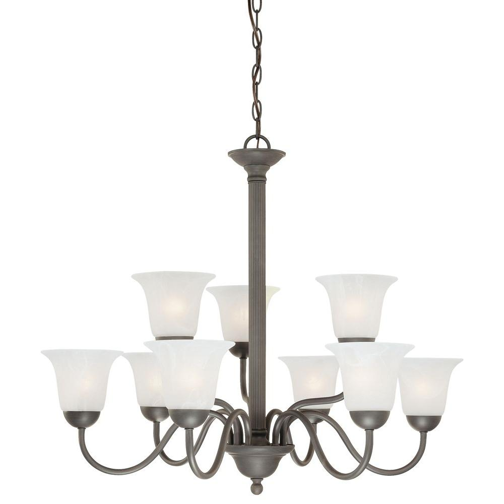 Thomas lighting riva 9 light painted bronze chandelier sl881363 thomas lighting riva 9 light painted bronze chandelier arubaitofo Images