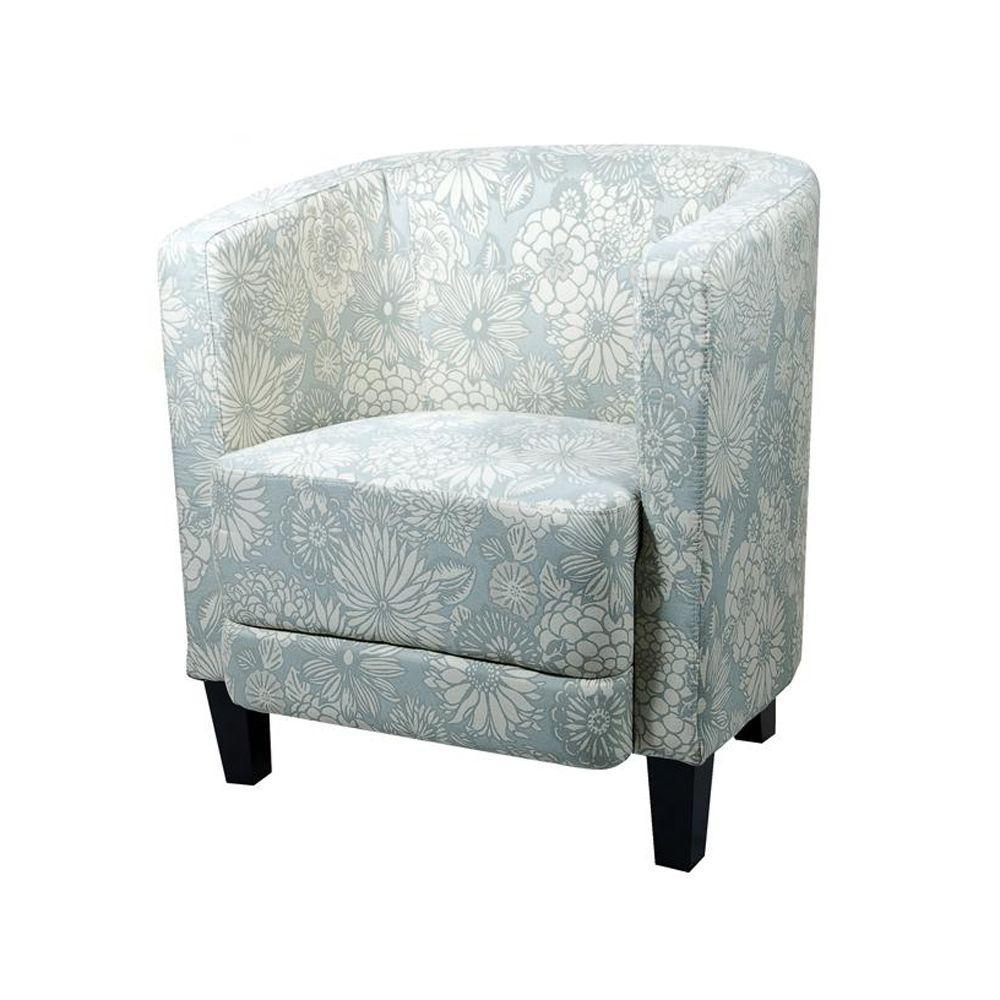 Home Decorators Collection Vincent Mist 27 in. W Barrel Chair