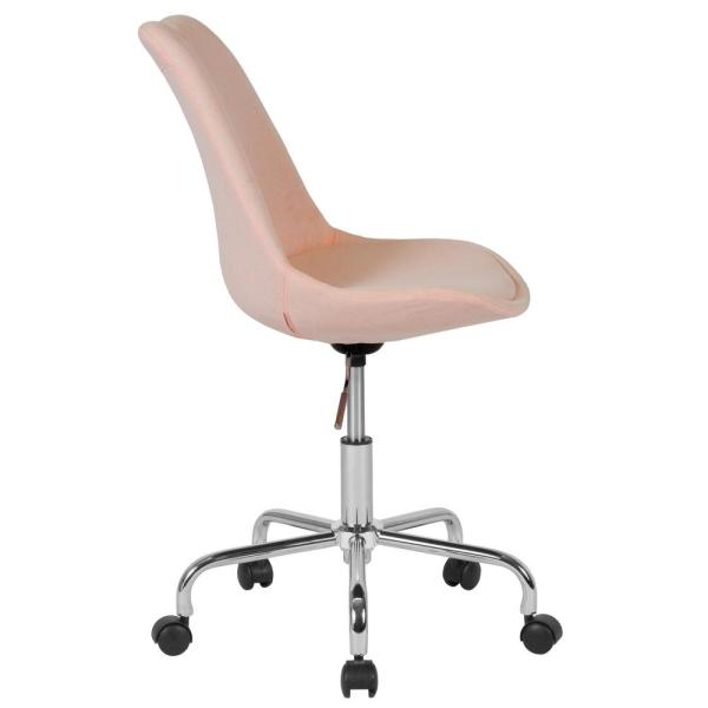 Carnegy Avenue Pink Fabric Office Desk Chair Cga Ch 229090 Pi Hd