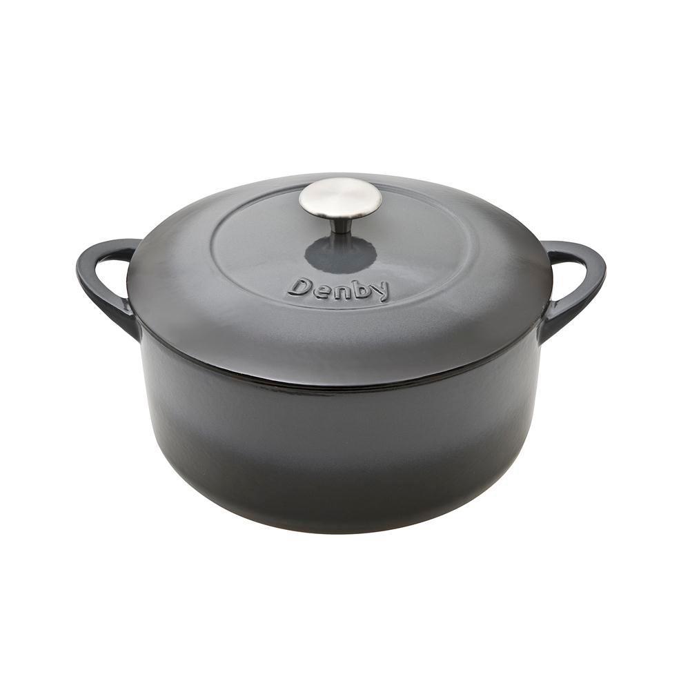 Halo 5.5 qt. Round Cast Iron Casserole Dish with Lid