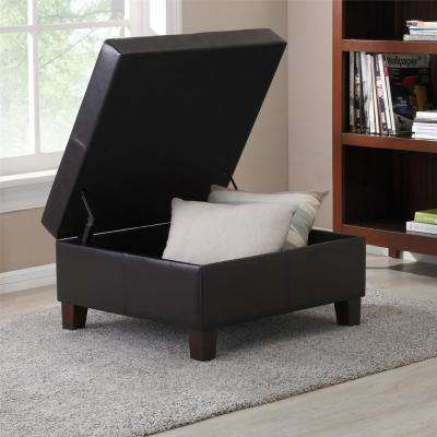 Clifford Espresso Lift-top Storage Ottoman