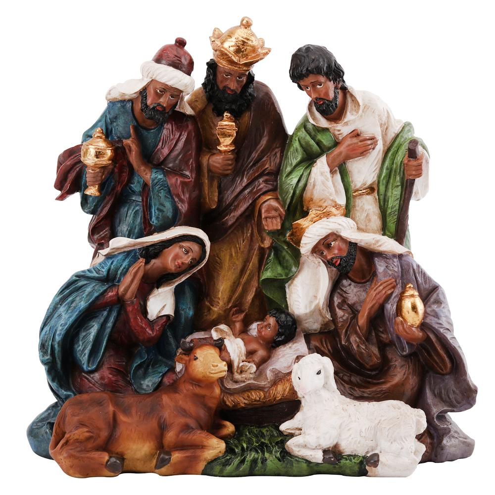 11.375 in. Ethnic Nativity Decor