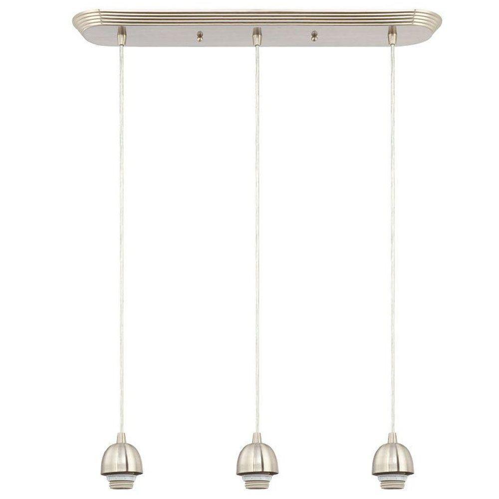 Kitchen Island Lighting Canopy: Westinghouse 3-Light Brushed Nickel Adjustable Mini