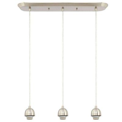 3-Light Brushed Nickel Adjustable Mini Pendant