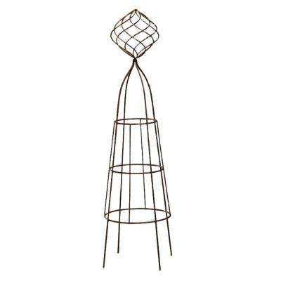 45 in. H x 11 in. diameter Firecracker with Ball Topiary