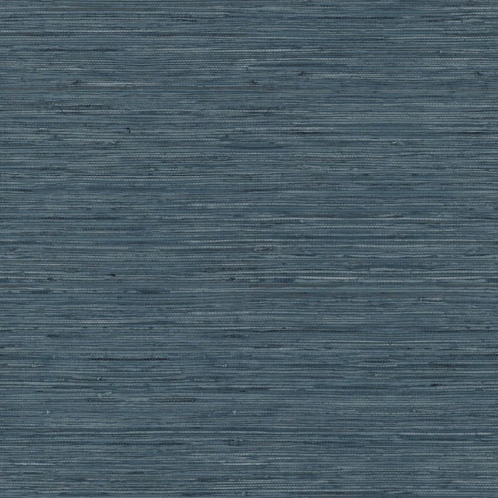 Grasscloth Blue Vinyl Peelable Wallpaper (Covers 28.18 sq. ft.)