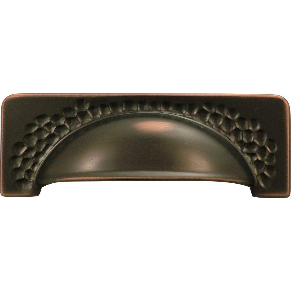 Hickory Hardware Craftsman 96 mm Oil-Rubbed Bronze Cup Pull-P2174 ...