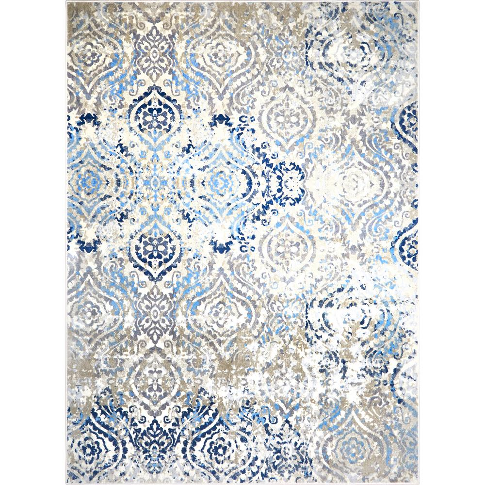 Melrose Audrey Ivory/Blue 7 ft. 10 in. x 10 ft. 2