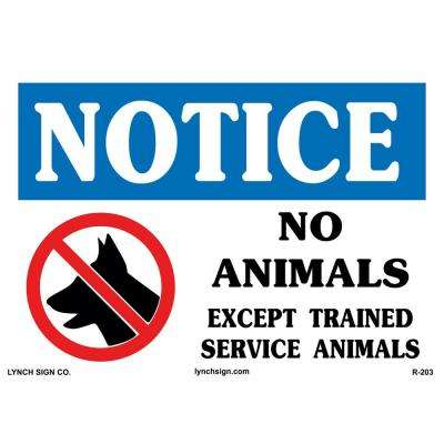 14 in. x 10 in. Service Dog Only Sign Printed on More Durable, Thicker, Longer Lasting Styrene Plastic