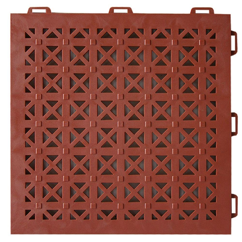 StayLock Perforated Terra Cotta 12 in. x 12 in. x 0.56