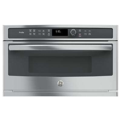 Profile 30 in. Electric Convection Wall Oven with Built-In Microwave in Stainless Steel