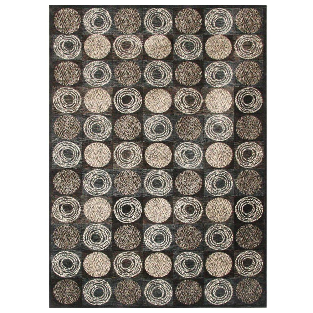 Sams International Sonoma Halsted Charcoal 5 ft. 3 in. x 7 ft. 6 in. Area Rug
