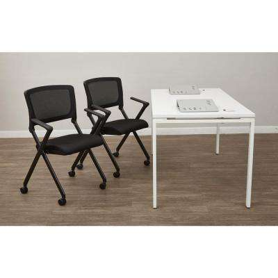 Black Folding Chair (Set of 2)