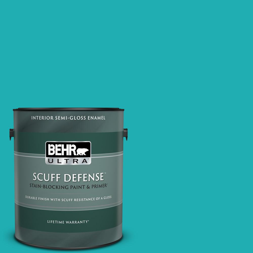 Behr Ultra 1 Gal Home Decorators Collection Hdc Sp16 06 Larkspur Blue Extra Durable Semi Gloss Enamel Interior Paint Primer 375401 The Home Depot