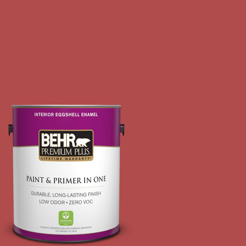 1-gal. #BIC-48 Fortune Red Eggshell Enamel Interior Paint