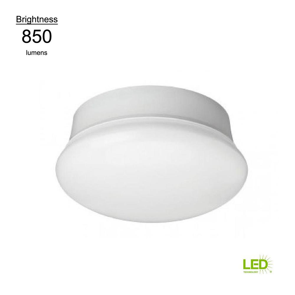 Commercial Electric Commercial Electric Spin Light 7 in. LED Flush Mount Ceiling Light 850 Lumens 11.5 Watts 5000K Daylight No Bulbs Needed