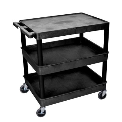 TC 32 in. 3-Shelf Utility Cart in Black
