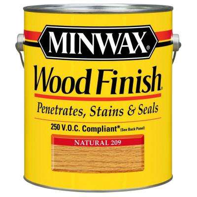 1 gal. Wood Finish Natural Oil Based Interior Stain 250 VOC (2-Pack)