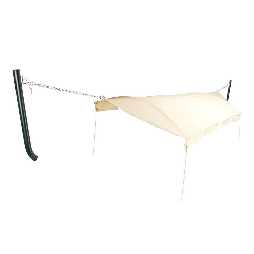 Pawleys Island Natural DuraCord Canopy For Hammock With Green Extension  Poles