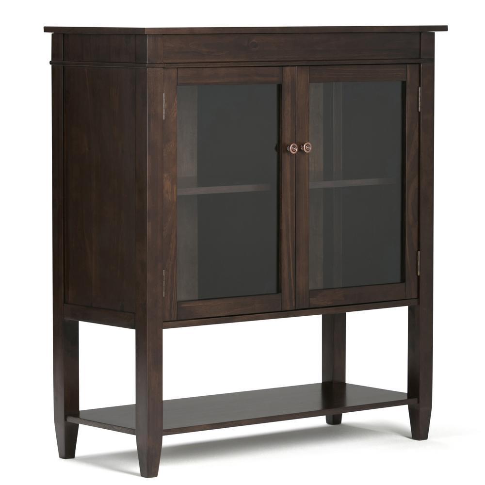 Carlton Dark Tobacco Brown Storage Cabinet