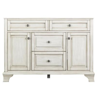 Corsicana 48 in. W x 21.5 in. D Vanity Cabinet Only in Antique White