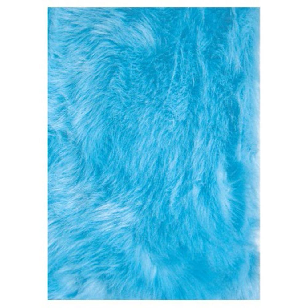 La Rug Flokati Light Blue 3 Ft X 4 Ft Area Rug Flk 011 3147 The