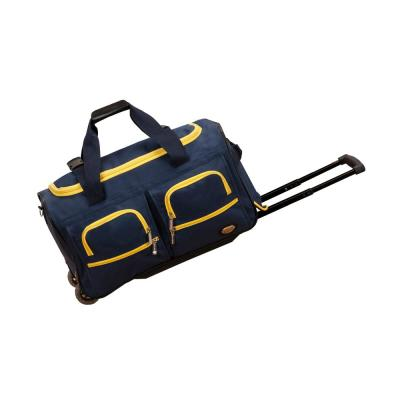 Rockland Voyage 22 in. Rolling Duffle Bag, Navy