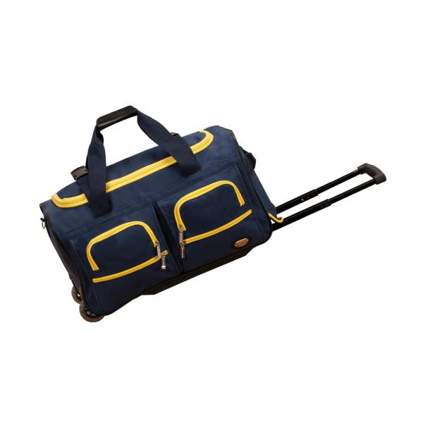 Rockland Rockland Voyage 22 in. Rolling Duffle Bag, Navy PRD322-NAVY