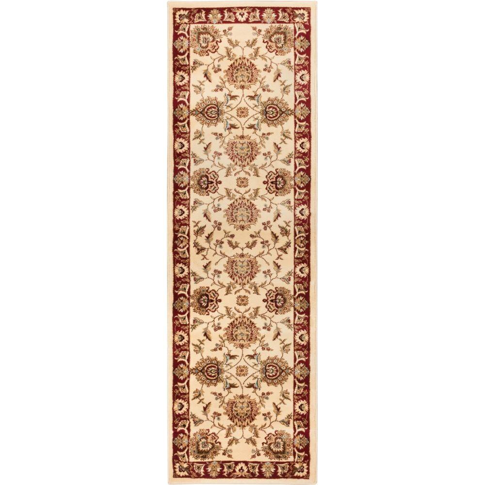 Timeless Abbasi Ivory 2 ft. 7 in. x 12 ft. Traditional