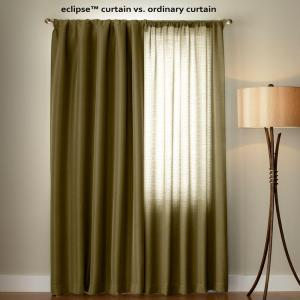 Eclipse Suede Blackout Chocolate Curtain Panel, 63 inch Length by Eclipse
