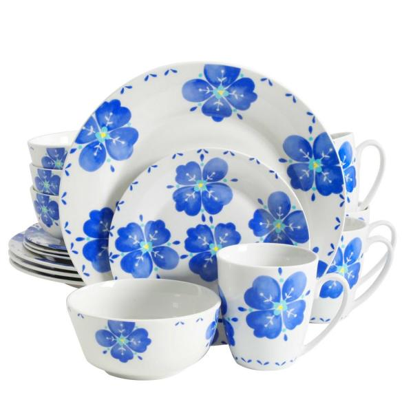 Gibson Home Classic Riviera 16-Piece Dinnerware Set in Floral Print 985100457M