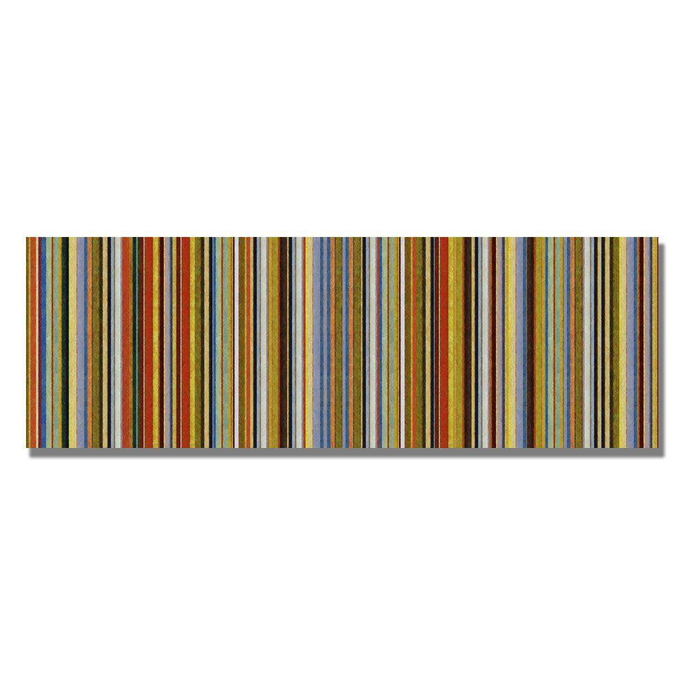 24 in. x 47 in. Comfortable Stripes VII Canvas Art