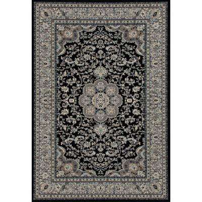 Kensington Center Glow Black 4 ft. x 6 ft. Area Rug