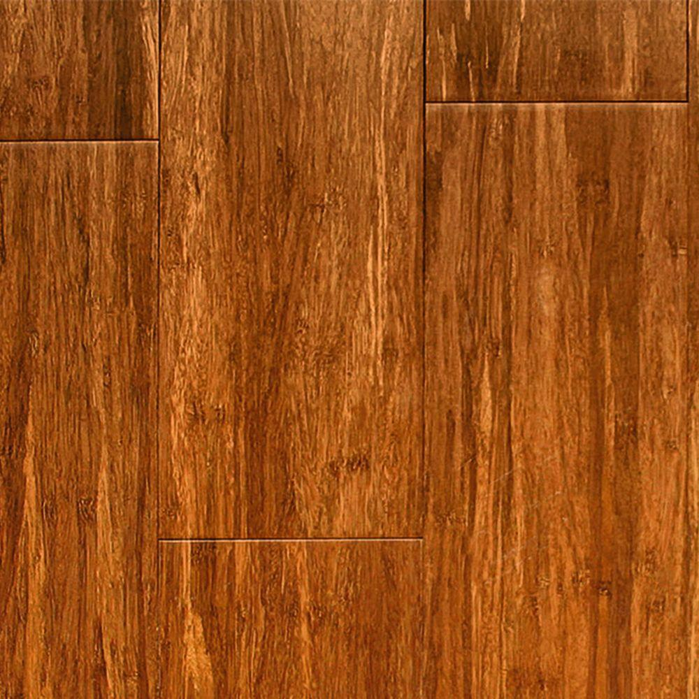 Islander Carbonized 5/16 in. Thick x 3-3/4 in. Wide x Random Length Solid Strand Woven Bamboo Flooring (35 sq. ft. / case)