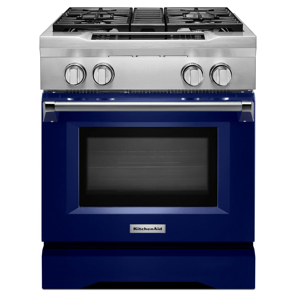 4.1 cu. ft. Dual Fuel Commercial-Style Range with Convection Oven in